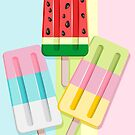 Popscicles Summer Pastel Colors by BluedarkArt