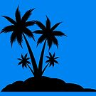 Palm Tree Silhouette  by scooterbaby