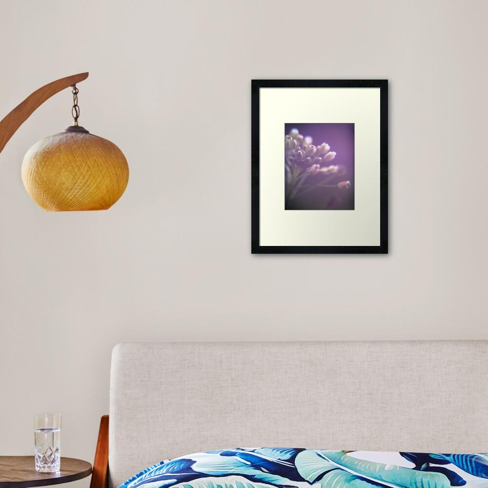 Purple Painterly Flowers Framed Art Print