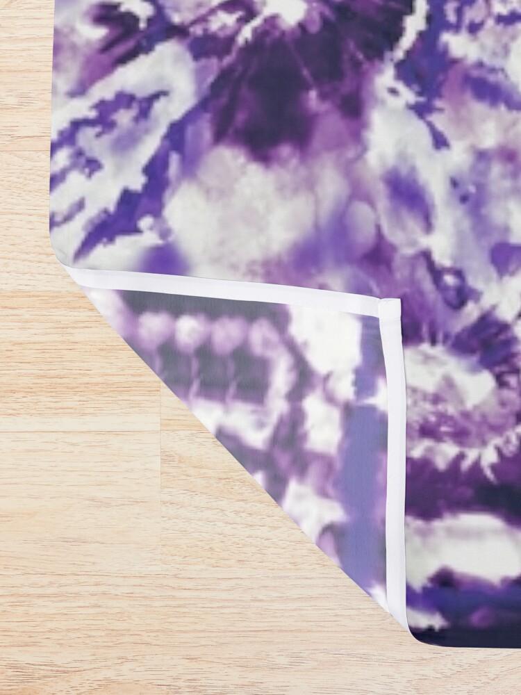 Alternate view of Tie-Dye Spiral Shibori Shower Curtain