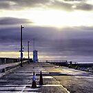2 Lonely Traffic Cones! by Sandra Cockayne