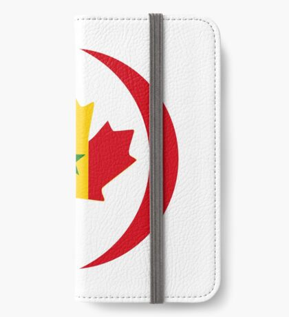 Senegalese Canadiain Multinational Patriot Flag Series iPhone Wallet