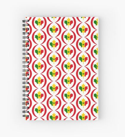 Senegalese Canadiain Multinational Patriot Flag Series Spiral Notebook