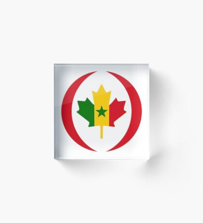 Senegalese Canadiain Multinational Patriot Flag Series Acrylic Block