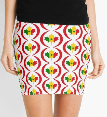 Senegalese Canadiain Multinational Patriot Flag Series Mini Skirt
