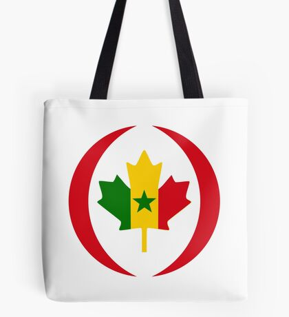 Senegalese Canadiain Multinational Patriot Flag Series Tote Bag