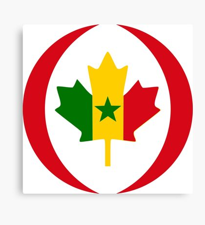 Senegalese Canadiain Multinational Patriot Flag Series Canvas Print