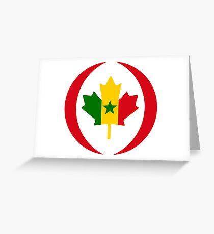 Senegalese Canadiain Multinational Patriot Flag Series Greeting Card