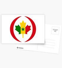 Senegalese Canadiain Multinational Patriot Flag Series Postcards