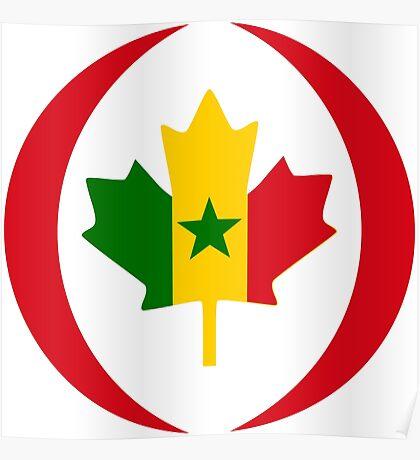 Senegalese Canadiain Multinational Patriot Flag Series Poster
