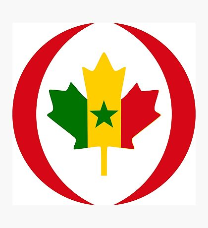 Senegalese Canadiain Multinational Patriot Flag Series Photographic Print