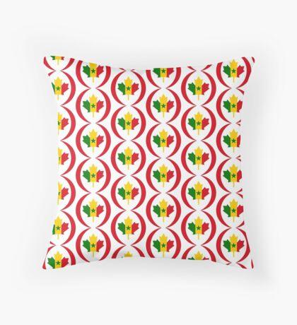 Senegalese Canadiain Multinational Patriot Flag Series Floor Pillow