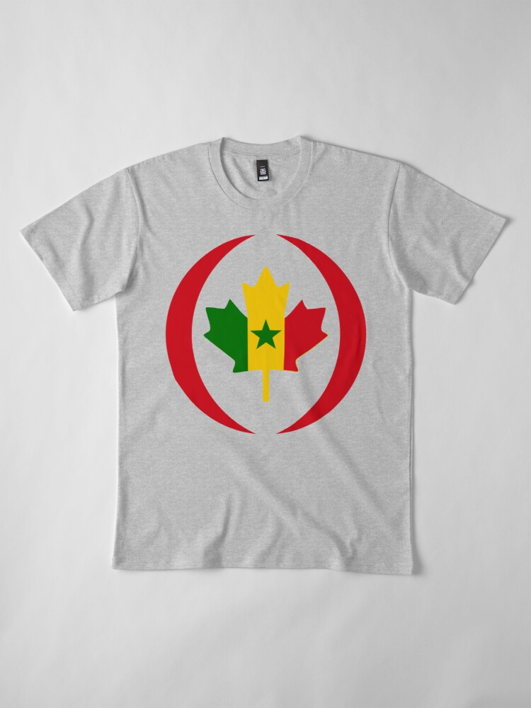 Alternate view of Senegalese Canadiain Multinational Patriot Flag Series Premium T-Shirt