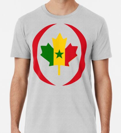 Senegalese Canadiain Multinational Patriot Flag Series Premium T-Shirt