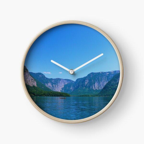 Vertical—Day at the Lake 1 Clock
