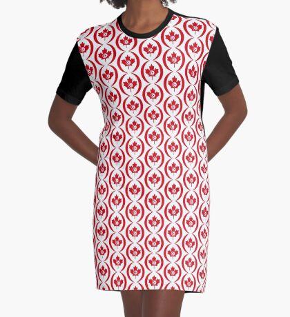 Tunisian Canadian Multinational Patriot Flag Series Graphic T-Shirt Dress