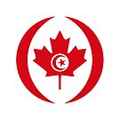Tunisian Canadian Multinational Patriot Flag Series by Carbon-Fibre Media