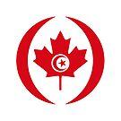 Tunisian Canadian Multinational Patriot Flag Series by Carbon-Fibre Media