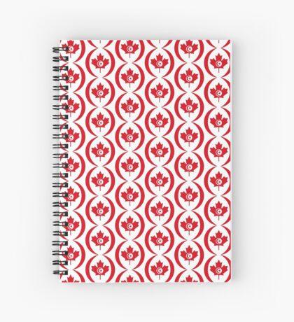 Tunisian Canadian Multinational Patriot Flag Series Spiral Notebook