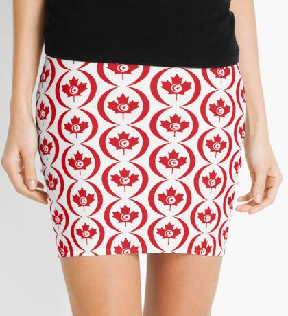 Tunisian Canadian Multinational Patriot Flag Series Mini Skirt