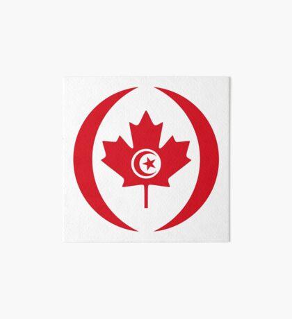 Tunisian Canadian Multinational Patriot Flag Series Art Board Print