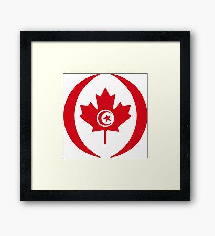 Tunisian Canadian Multinational Patriot Flag Series Framed Print