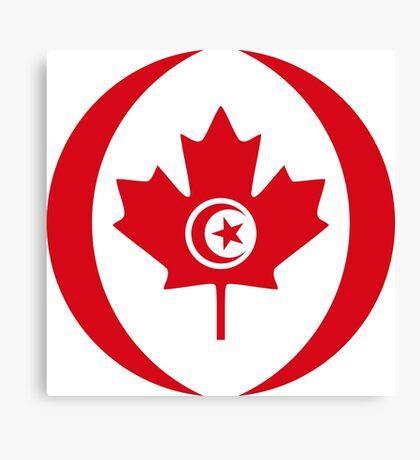 Tunisian Canadian Multinational Patriot Flag Series Canvas Print