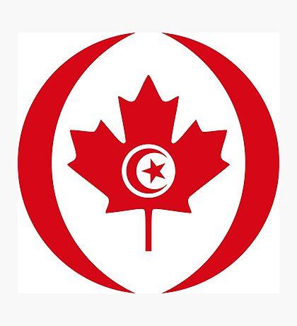Tunisian Canadian Multinational Patriot Flag Series Photographic Print