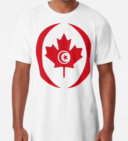 Tunisian Canadian Multinational Patriot Flag Series Long T-Shirt