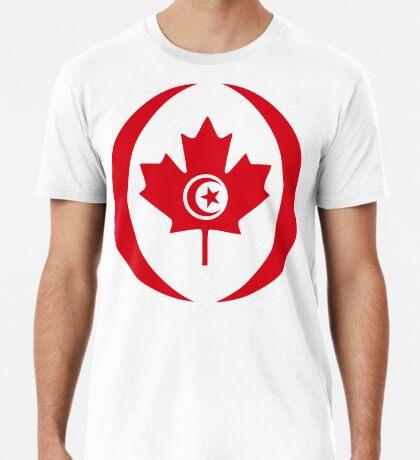 Tunisian Canadian Multinational Patriot Flag Series Premium T-Shirt