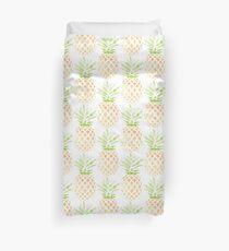 Watercolor Pineapple Bettbezug