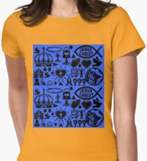 CHRISTIANITY (BLUE) Womens Fitted T-Shirt