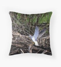 Incoming Lesser Yellowlegs Sandpiper  Throw Pillow