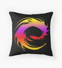 Colorful dragon - Eragon Throw Pillow
