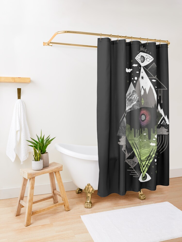 Alternate view of 0v3r5ight_ Shower Curtain