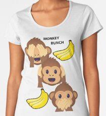 Monkey Bunch See No Evil, Hear No Evil, Speak No Evil Joypixels Emoji Premium Scoop T-Shirt