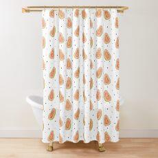 Papaya Polka Shower Curtain