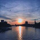 schöner Sonnenuntergang - schöne Stadt, Bremen, Deutschland von Jorgi  Gergis
