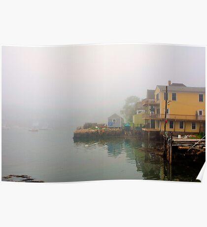 House, Fog, Stonington, Maine Poster