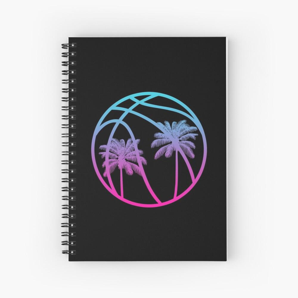 Miami Vice Basketball - Black alternate Spiral Notebook
