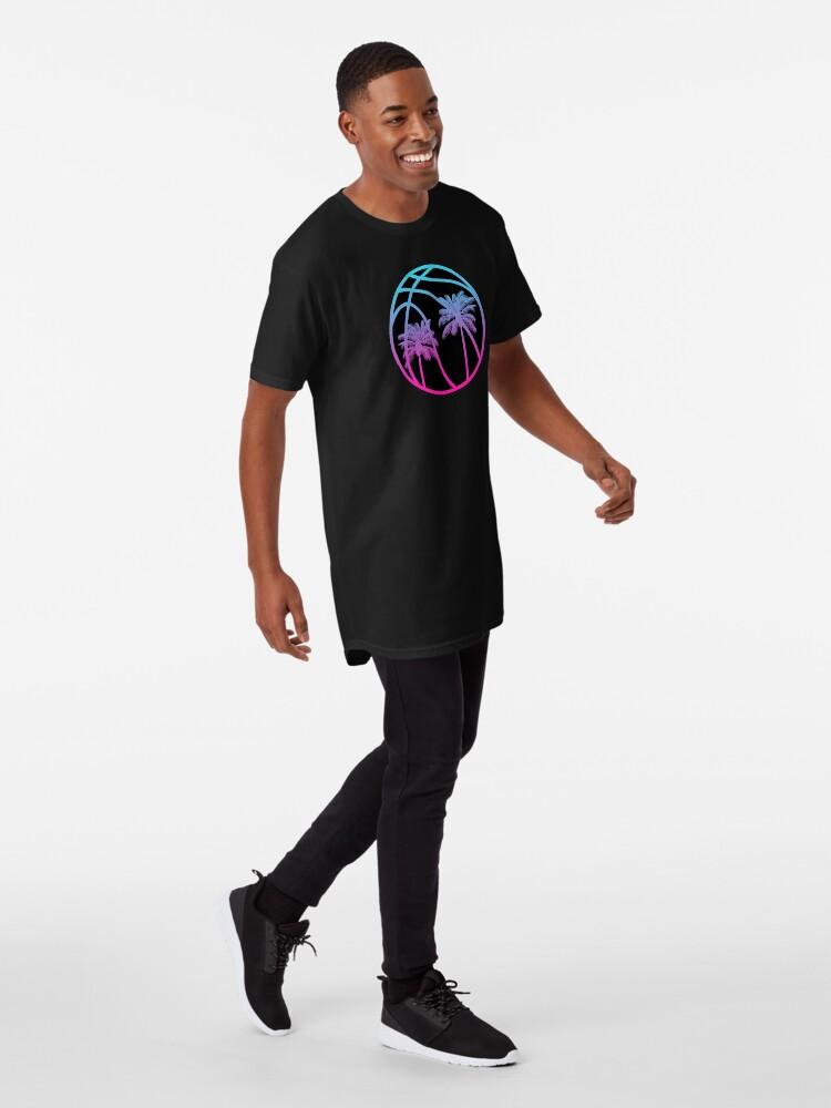 Alternate view of Miami Vice Basketball - Black alternate Long T-Shirt
