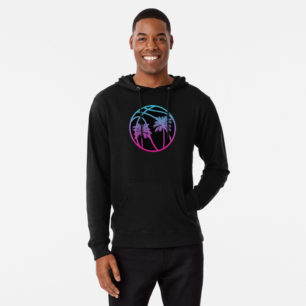 Miami Vice Basketball - Black alternate Lightweight Hoodie