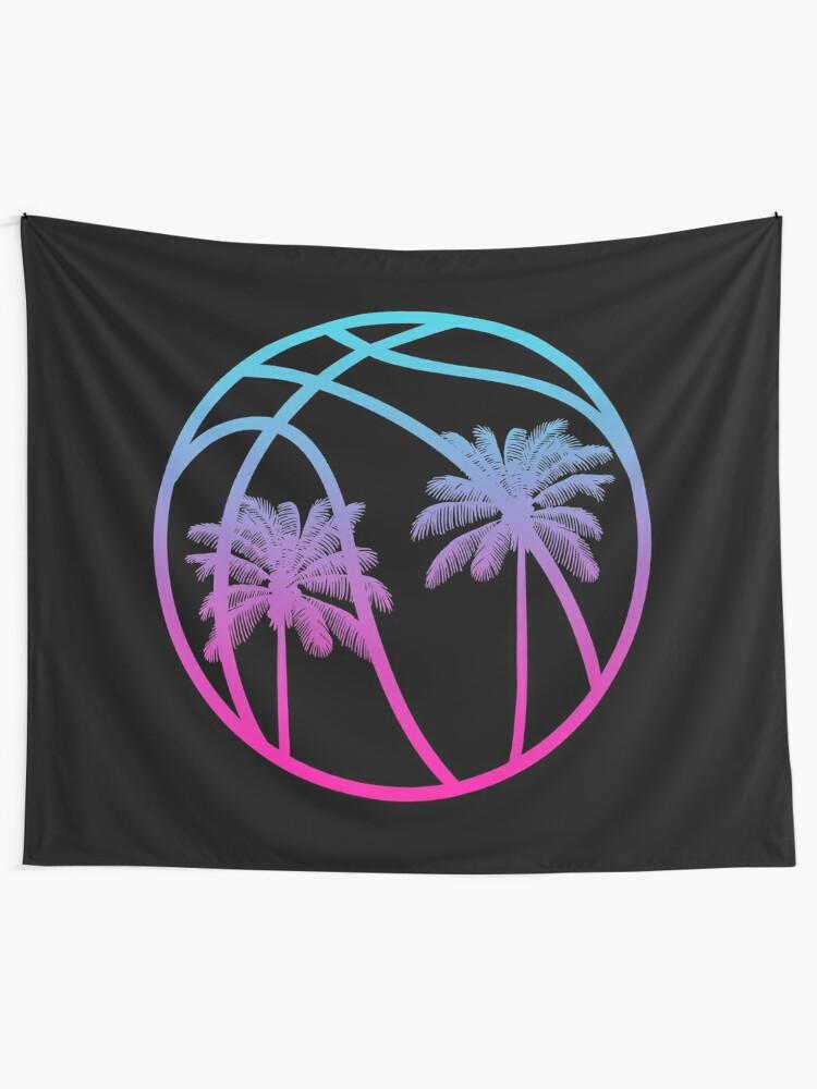 Alternate view of Miami Vice Basketball - Black alternate Tapestry