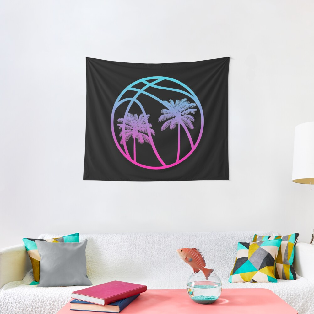 Miami Vice Basketball - Black alternate Tapestry