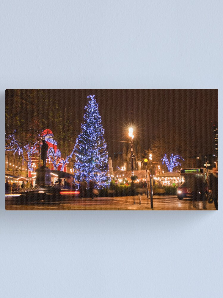 Alternate view of Merry Christmas from Manchester  Canvas Print
