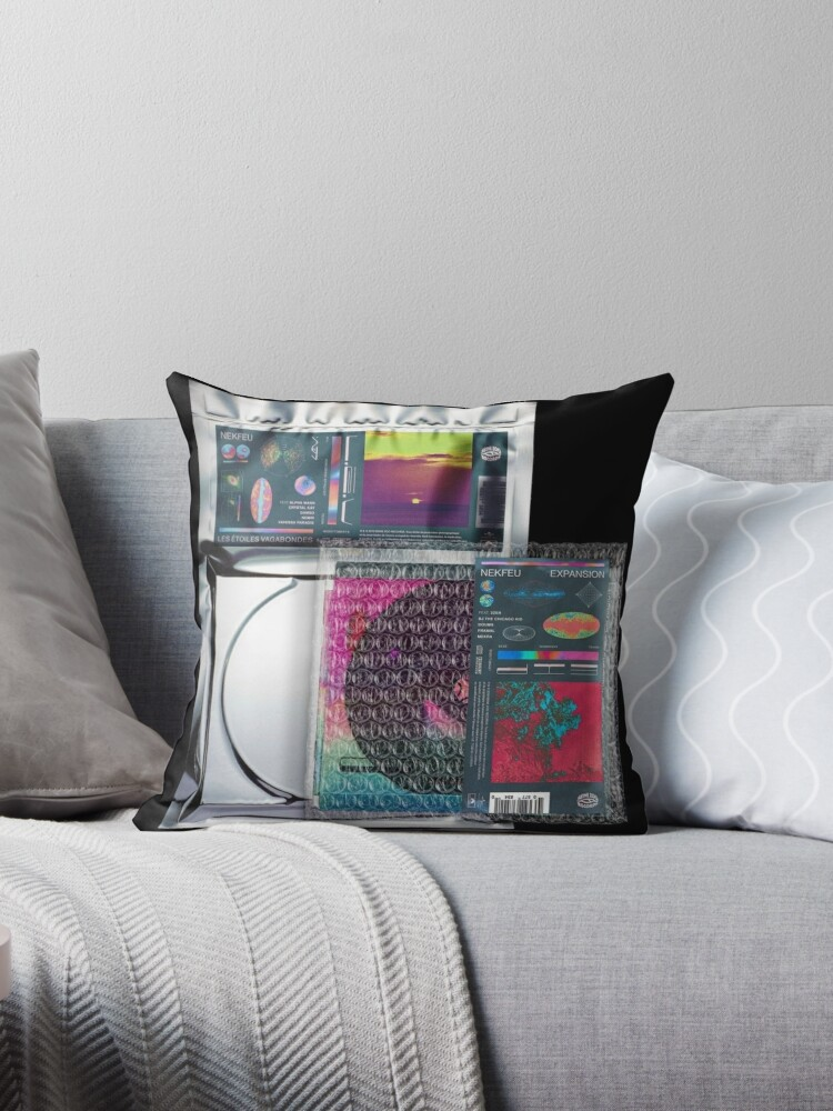 Nekfeu Les Etoiles Vagabondes Expansion Album Cover Throw Pillow By Kajfee