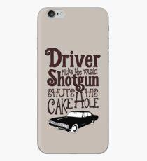 Driver Picks The Music, Shotgun Shuts His Cake Hole iPhone Case
