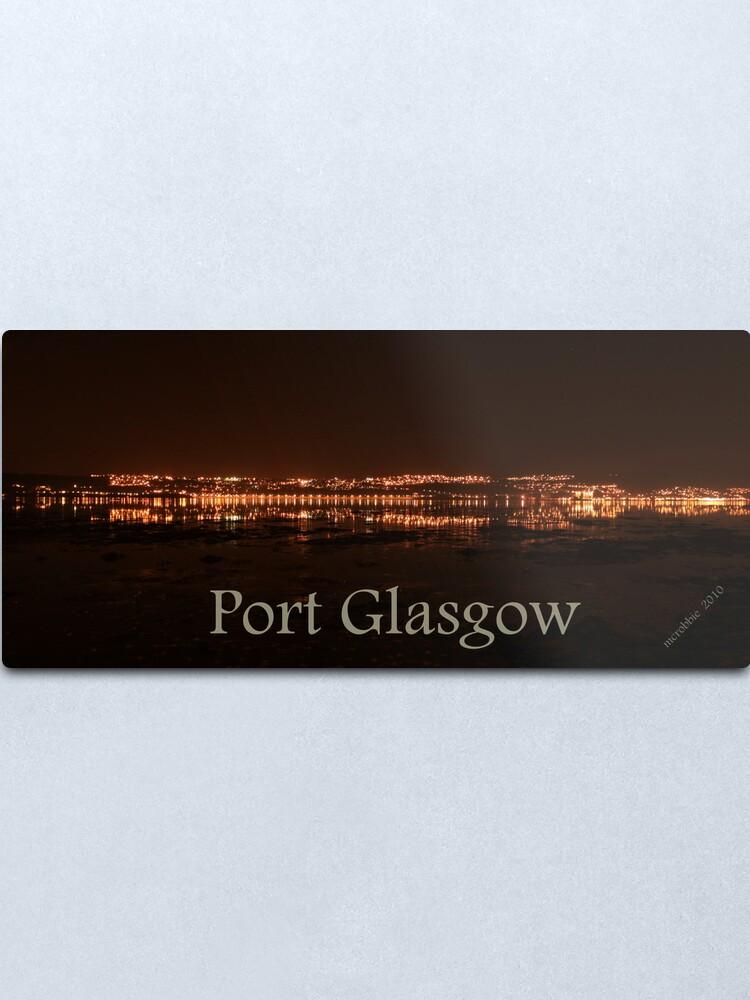 Alternate view of Port Glasgow 4 Metal Print