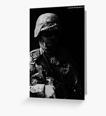 Black Ops No identity Greeting Card