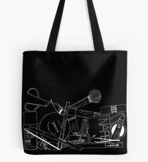 Makeup Bag Innards (black) Tote Bag